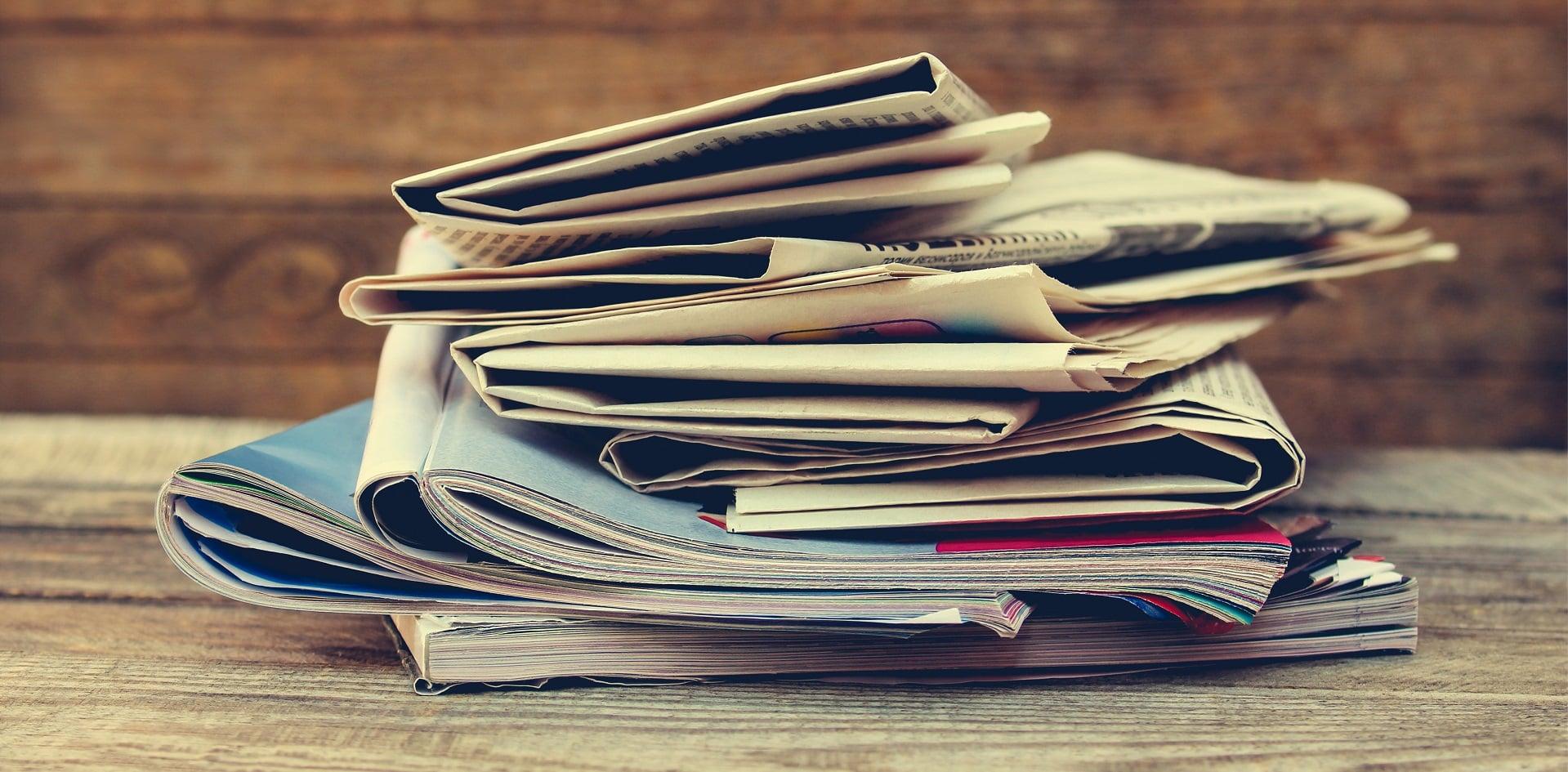 Zeitungen und Magazine der Presse