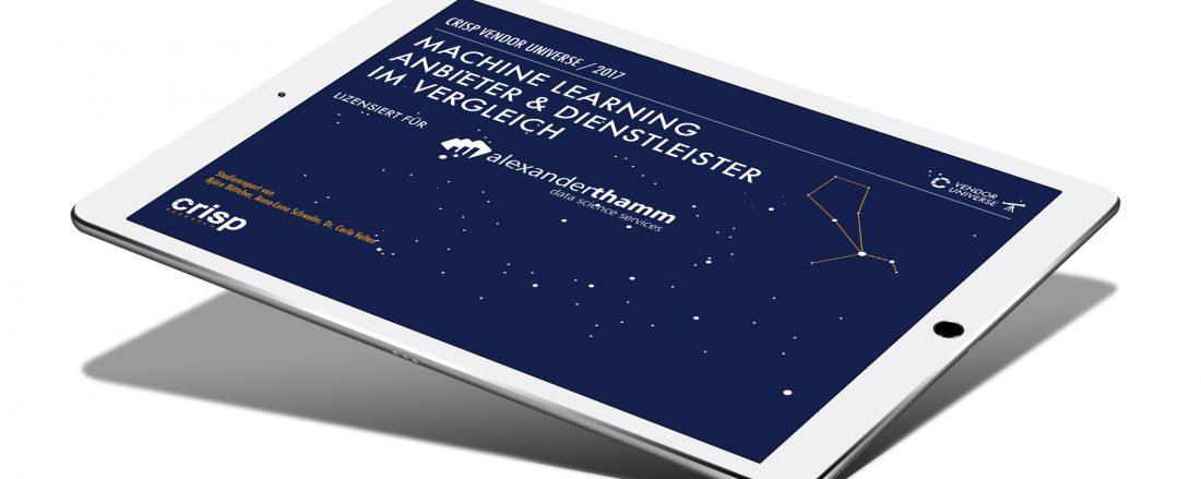 Machine Learning Studie - Erste deutsche Studie über Machine Learning Anbieter.