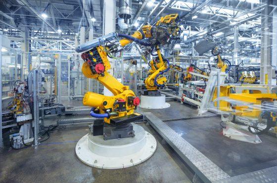 Künstliche Intelligenz in einem Roboterarm.