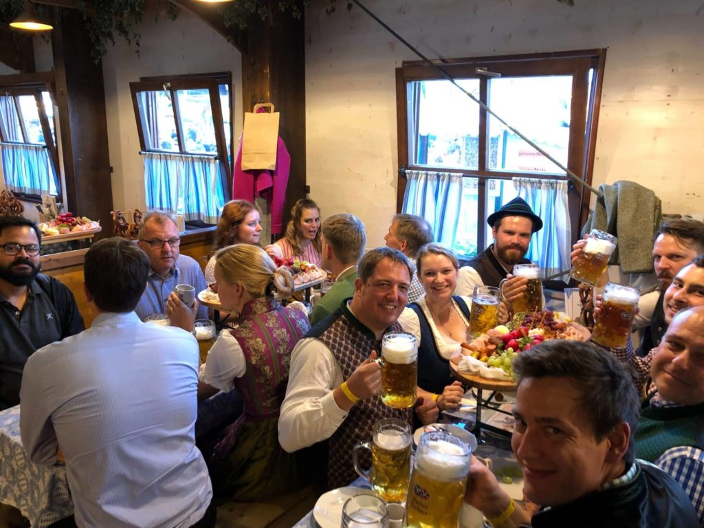 Wiesn Exchange im Bierzelt