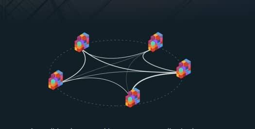 Die Blockchain zeichnet sich durch eine dezentrale Netzwerkstruktur aus, wobei jede Information an vielen verschiedenen Punkten im Netzwerk gleichermaßen gespeichert und geändert wird.