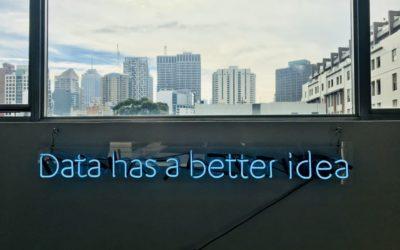 """Schriftzug """"Data has a better idea"""""""