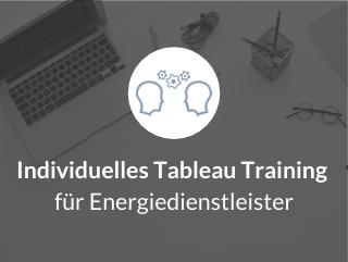 Individuelles Tableau Training für Energiedienstleister