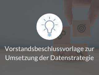 Vorstandsbeschlussvorlage zur Umsetzung der Datenstrategie