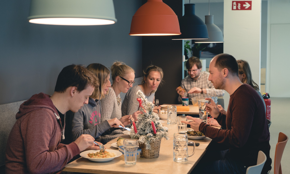 gemeinsam essen im coworking space münchen