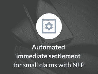 Automated immediate settlement for small claims with NLP​