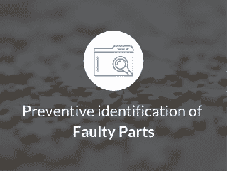 Preventive identification of faulty parts